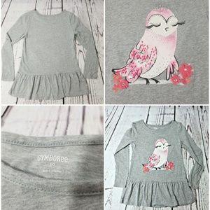 Gymboree Girl's Size 10 Swing Top Grey